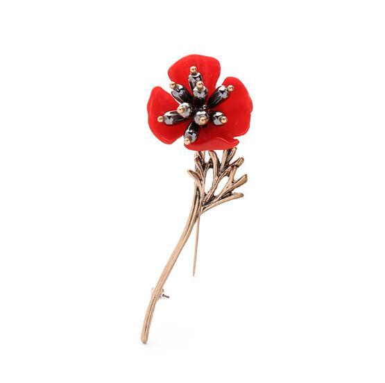 Hot Lapel Flower Man Woman Camellia Handmade Boutonniere Stick Brooch Pin Men's Accessories in Multicolor free shipping AOP--694