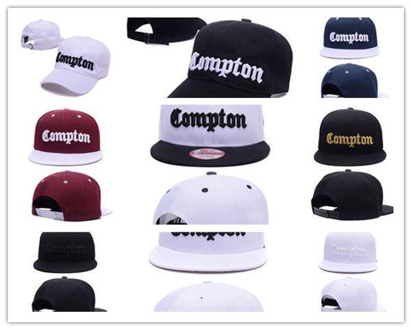Nuovo arrivo nero SSUR Snapback Cap Compton cappelli hip pop mens donne classici cappucci a scatto regolabili economici, cappello di strada di alta qualità