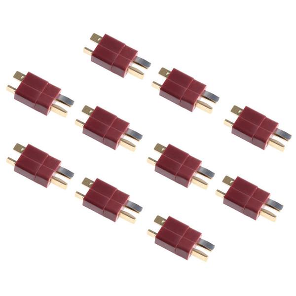 20 stücke 10 pairs t stecker männlich weiblich anschlüsse deans stil für rc lipo batterie