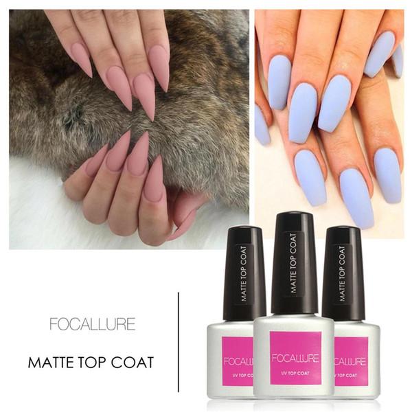 Wholesale Focallure Matt Top Coat Nail Art Uv Gel Polish 7.5ml Matte ...