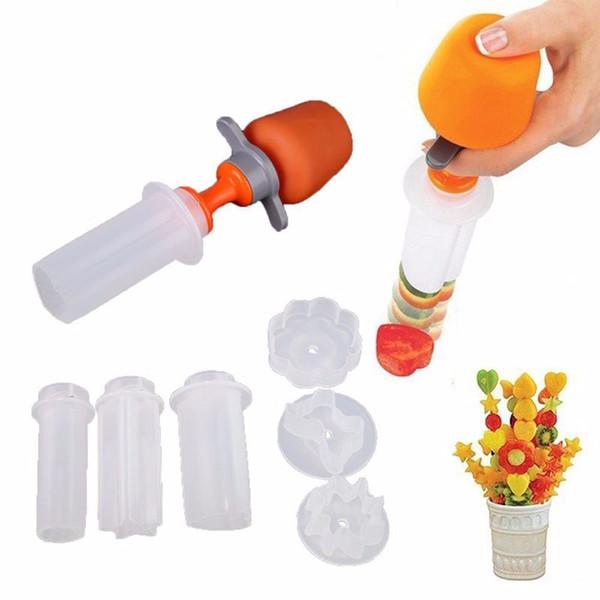 best selling Plastic Vegetable Fruit Shape Cutter Slicer Veggie Food Snack Maker Tools Cake Decorator for Festival Game