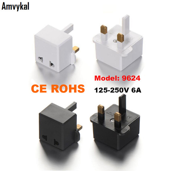 top popular Amvykal High Quality CE ROHS 9624 AC Power Electrical Plug Adaptor US EU To UK Plug Adapter UK Travel Charger Converter Outlet 2021