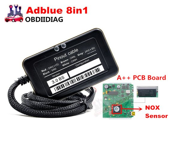 Adblue 8in1 V3 0 Adblue Emulator 8 IN 1 With NOx Sensor AD Blue Removal  Tool For 8 Kinds Of Trucks Computer Tools And Equipment Connection  Diagnostic