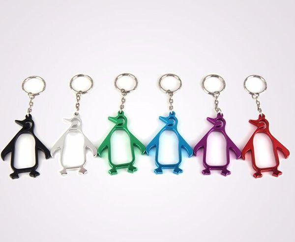 Abrebotellas creativo de la cerveza de los pingüinos Abrelatas abrelatas animal de la aleación de aluminio con el llavero Abrelatas de botella encantador del Portable