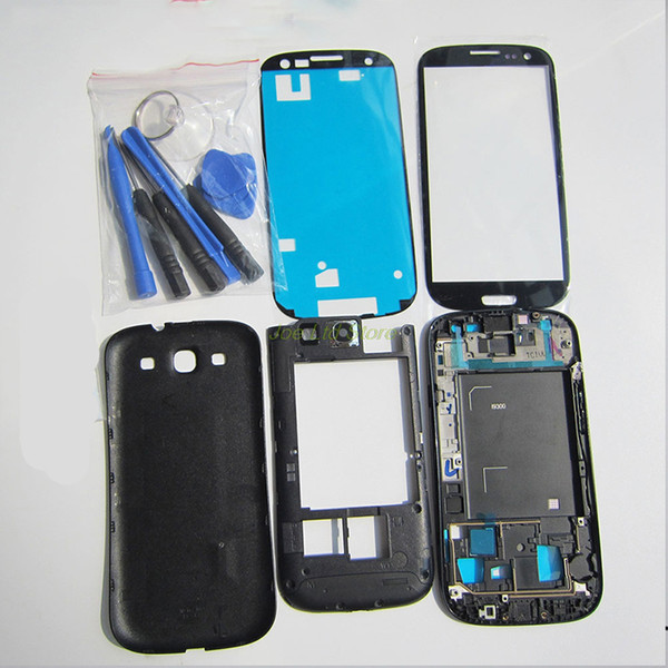 Replacement Parts For Samsung Galaxy S3 I9300 I9305 i9300i Full Housing Cover Car case Case Accessories +Screen Glass Lens +Button +Tools