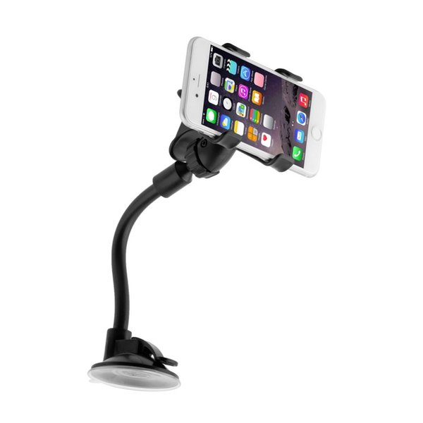 Wholesale-High Quality Windshield 360 Degree Rotating Car Sucker Mount Bracket Holder Stand Universal for Phone GPS Tablet PC Accessories