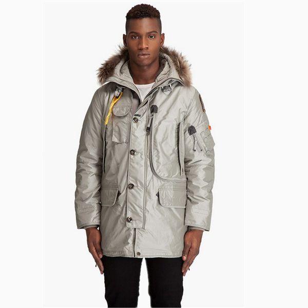 2019 Hot Sale mens kodiak down Jacket Hoodies Fur Fashionable Windproof Winter Coats Warm Parka Free Drop shipping