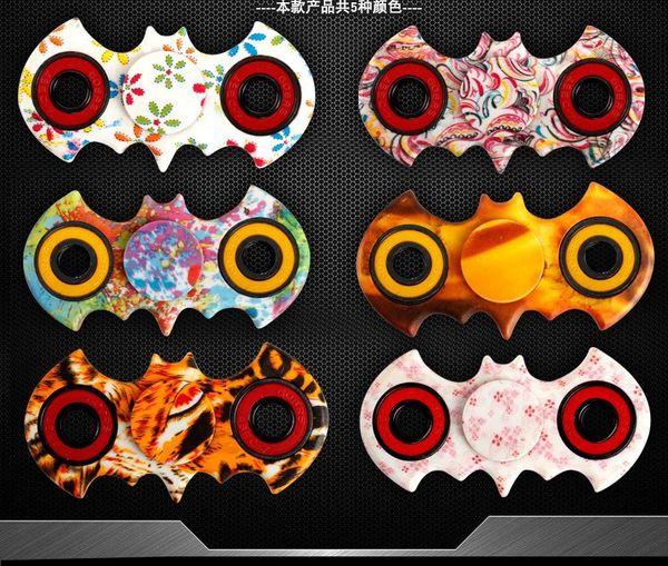 Hand Spinner Fidget Bat Pattern EDC Stress Finger Spinner BatMan