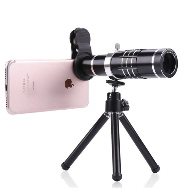 Universal Clip On 18X Telephoto Lens Mobile Phone Optical Zoom Telescope Camera For iPhone Sumgung HTC Asus JT11