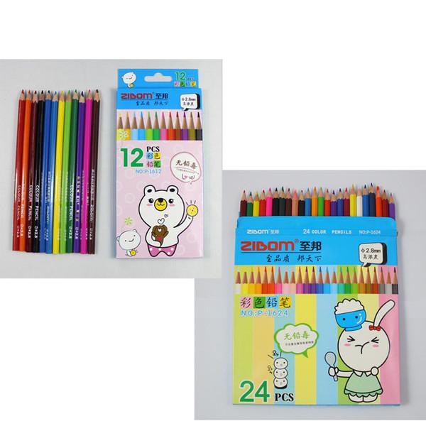 12pcs 24pcs crayons de couleur, bois arc en ciel bricolage garde secrète crayon de couleur pour dessin esquisse pour peinture école enfant dessin graffiti