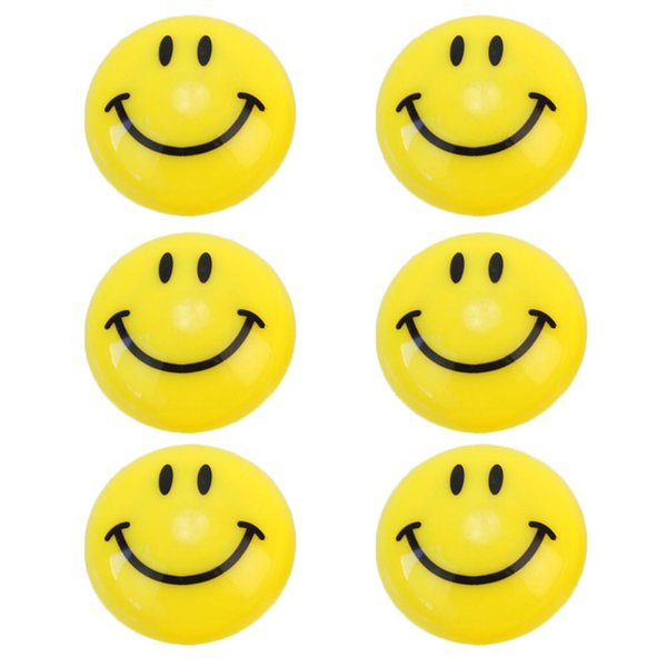 6pcs Round Cartoon Emoji Smile Smiley Face Fridge Magnets Refrigerator Magnetic Sticker Home Decoration Toys 3cm Dia New