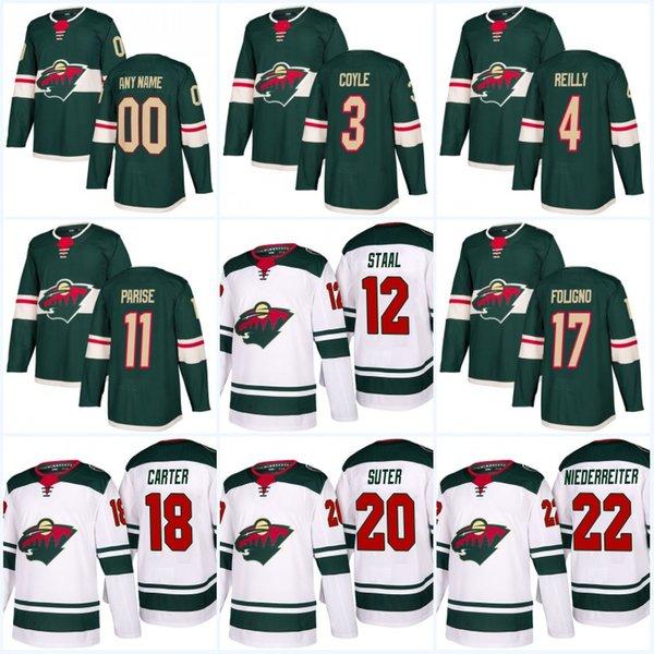 new style b63c7 91a82 2019 2017 18 New Style Minnesota Wild Jerseys Women/Men 3 Charlie Coyle 7  Chris Stewart 11 Zach Parise 22 Nino Niederreiter Hockey Jersey From ...
