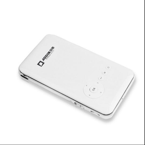 Wholesale-5000mah Battery AODIN M6 plus mini phone projector dlp wifi portable Handheld smartphone Projector Android AC3 Bluetooth