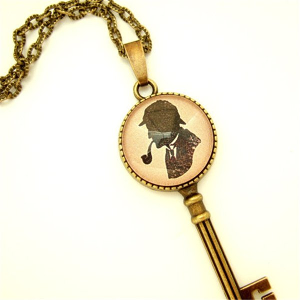 12 шт. / лот Шерлок Холмс вдохновил ожерелье ключ Superwholock ожерелье Шерлок Geek шикарный подарок