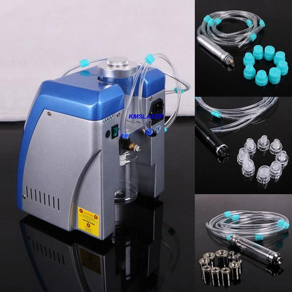 Blue Color 2in1 Microdermabrasion Dermabrasion Hydro Peeling Vide Facial Peeling Soins Spa Peau Lifting Beauté Machine