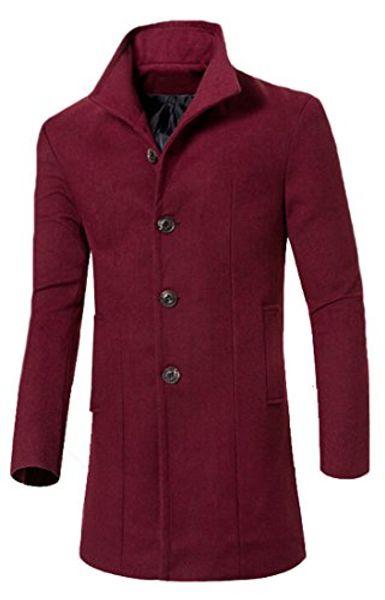 top popular Wholesale- Abetteric Abetteric Stand Collar Woolen Long Trench Pea Coat Windbreaker Jacket 2021