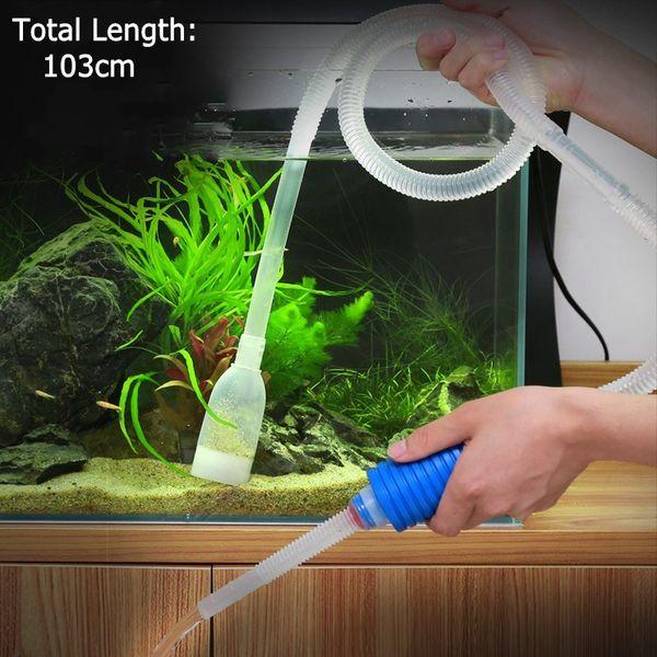 103 cm Aquarium Manuel Cleaner Outil Siphon Gravier Aspiration Tuyau Filtre Fr Fish Tank Vide Pompe De Changement D'eau Outils Unique