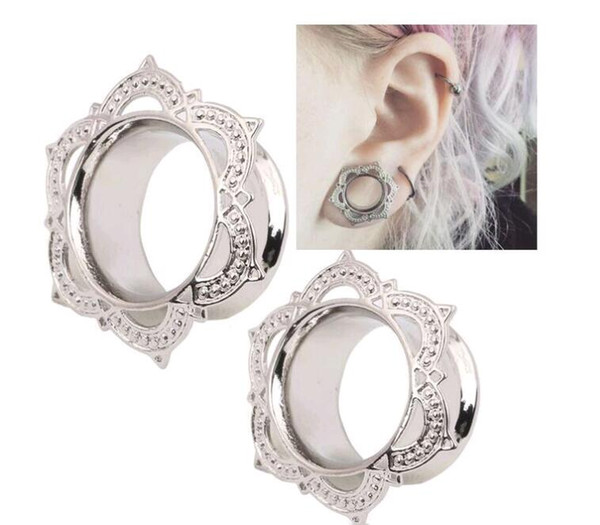 top popular New Fashion 10pcs Ear Plugs 6mm-12mm Gauges Rhombus Angles Body Jewelry Copper Gold Silver Ear Tunnel for Men Women 2021