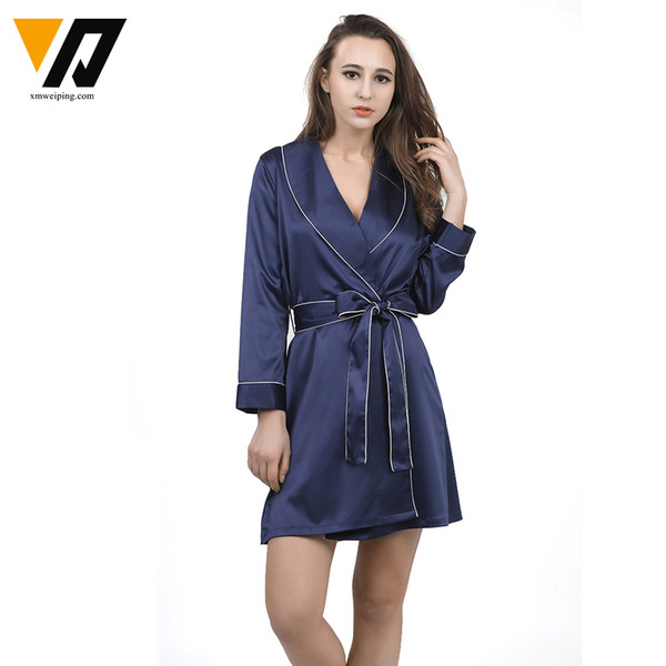 e3e554f6c2 bathrobes women chiffon Coupons - Wholesale- XMWEIPING High Grade Sexy  Women Bathrobe Satin Chiffon Robe