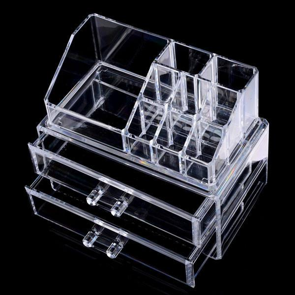 best selling 2017 High Quality Clear Acrylic Cosmetic Jewelry Organizer Makeup Box Case Makeup Box Case SF-1063