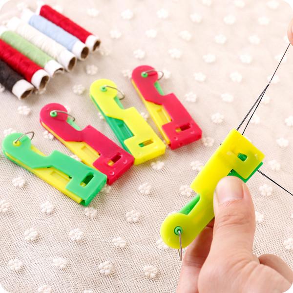 Houdehold Enhebrador automático de aguja espontáneo no afectado Dispositivo de aguja de cosido fácil Herramienta de guía de rosca Anciano Fácil de usar
