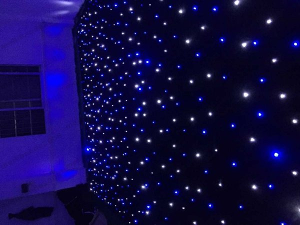 NEW 4M*4M LED Star Curtain RGBW/RGB Colored LED Stage Backdrop LED Star Cloth for Wedding Decoration 90V-240V with DMX MYY