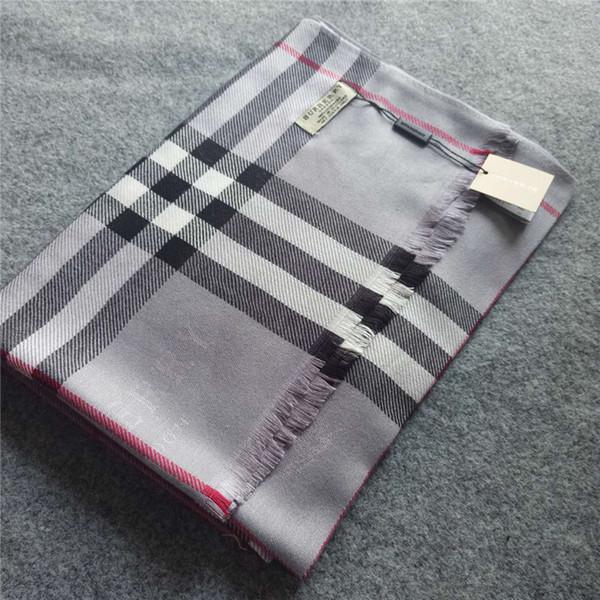 Sciarpa di marca più nuova Sciarpa di disegno paild di alta qualità taglia 180x70cm Sciarpe di moda donna senza scatola RT-6984