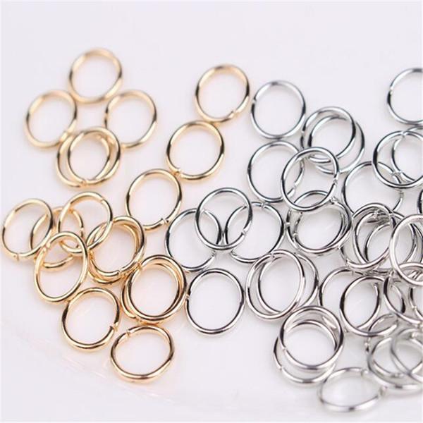 Anelli di salto Apri connettori 8mm DHL Oro Argento Bronzo Rame Nero ecc. Per gioielleria Fai da te Accessori fatti a mano Regalo di Natale