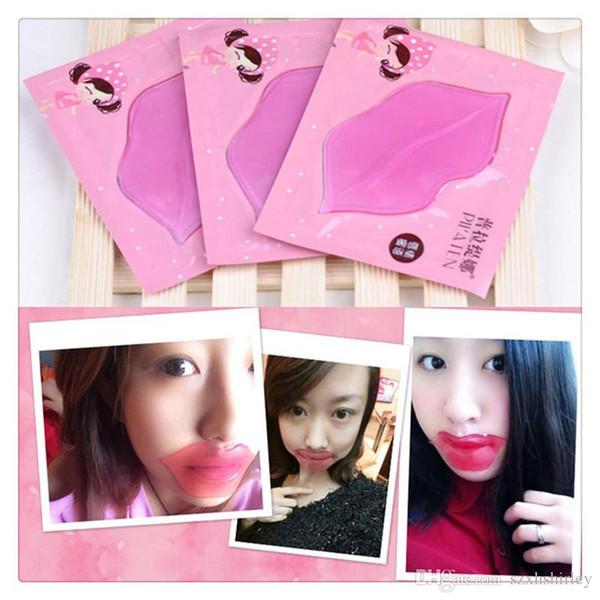 Hot Cristal Collagen Lip Masks Cuidados Com Os Lábios Pilaten Esfoliante Hidratante AntiAging Tratamento Lip Care Ferramentas 7g