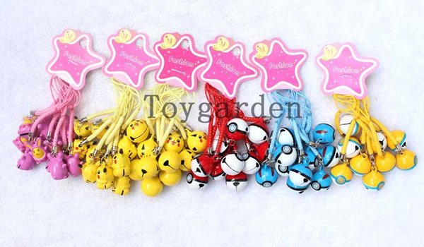 Lot Popular Cartoon Cell Phone Strap JINGLE BELLS Dangle Charms Party Gifts 1000pcs free shipping H41