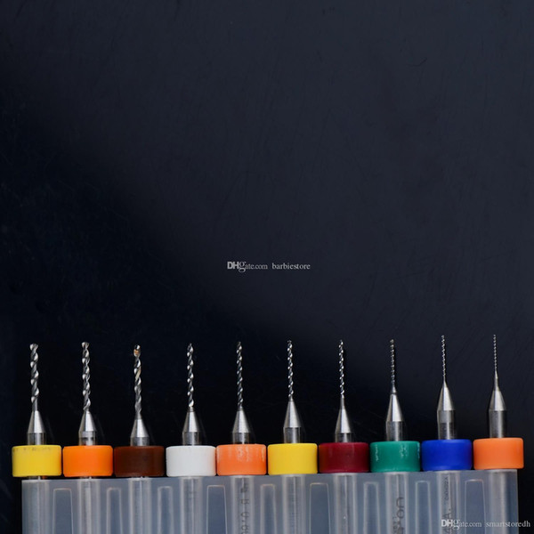 10Pcs PCB Print Circuit Board Carbide Micro Drill Bits Tool 0.3mm to 1.2 mm B00209 JUST