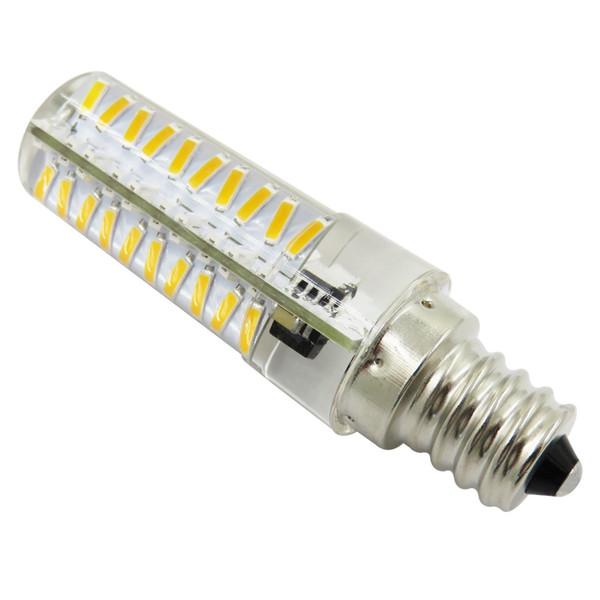E12 C7 Vela Araña Bombilla Lámpara de cristal Luz diurna 5W 80-4014SMD LED regulable Blanco / Cálido CA 120V 220V (paquete de 10)