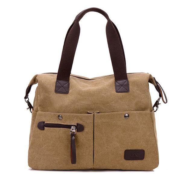 Wholesale- 2017 Top Quality Big Messenger Bag Men Canvas Bag Women Crossbody Leisure Bags Mens Shoulder Bags Business Briefcase L252