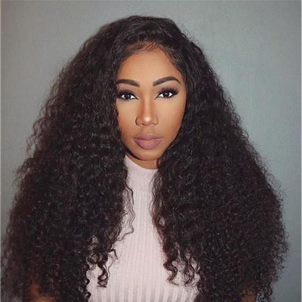 Human Hair Wigs For Black Women Peruvian Afro Kinky Curly Lace Front Wigs With Baby Hair 8-26inch Hair DHL FREE