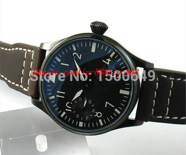 Relojes de lujo Reloj de pulsera Reloj de moda PVD Dial negro 44 mm Reloj de cuerda especial para hombres Relojes de pulsera