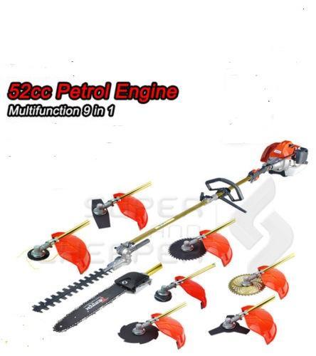 2019 New model 9 in 1 52CC multi brush cutter pole chain saw hedge trimmer