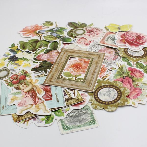 All'ingrosso-25pcs Fiori d'epoca Cartoncino Taglio per Scrapbooking / Card Making / Journaling Progetto DIY