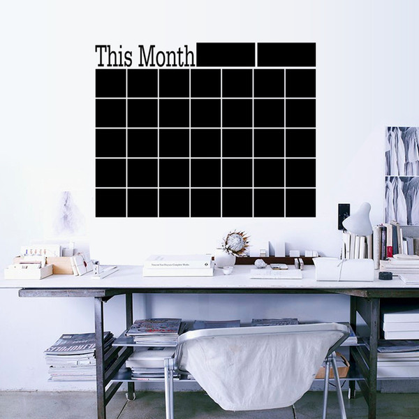 top popular DHL & SF_express This Month blackboard Stickers PVC WALL STICKER Monthly Plan Calendar Chalkboard wall Writing Boards for office (7) 2021