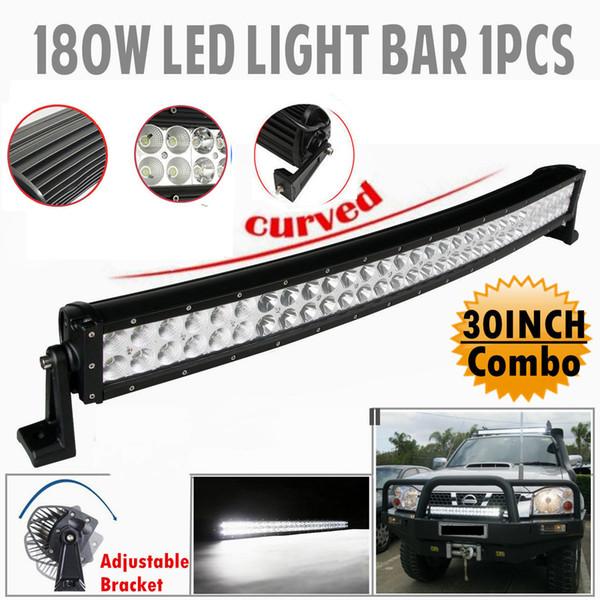 32 polegadas curvo LED 180W Driving Luz de trabalho Bar Ponto Flood Combo feixe Waterproof IP67 Off road Bar ATV SUV 4X4 Truck Trailer 12V 24V