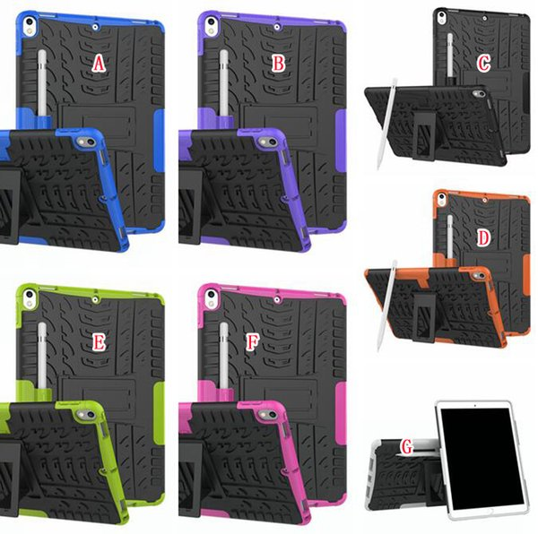 """For Ipad Pro 10.5"""" 2017 Version Tablet Hard PC TPU Case Hybrid Camo Shockproof Tyre Tire Heavy Duty Stand Colorful Skin Cover Fashion 50pcs"""