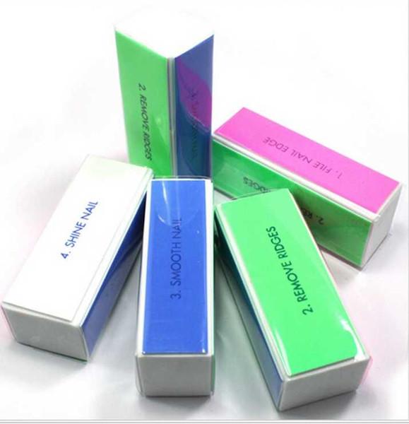 Nail Art Fluorescent Sand Buffer Block Natural False Gel Polish Varnish Nails Care Beauty Polishing Grinding Foam File Kits