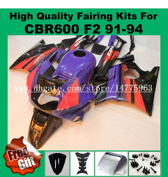9Gifts fairings For HONDA CBR600 F2 91 92 93 94 CBR600RR Red Black blue CBR 600F2 600 F2 CBR600 F2 1991 1992 1993 1994 Fairing