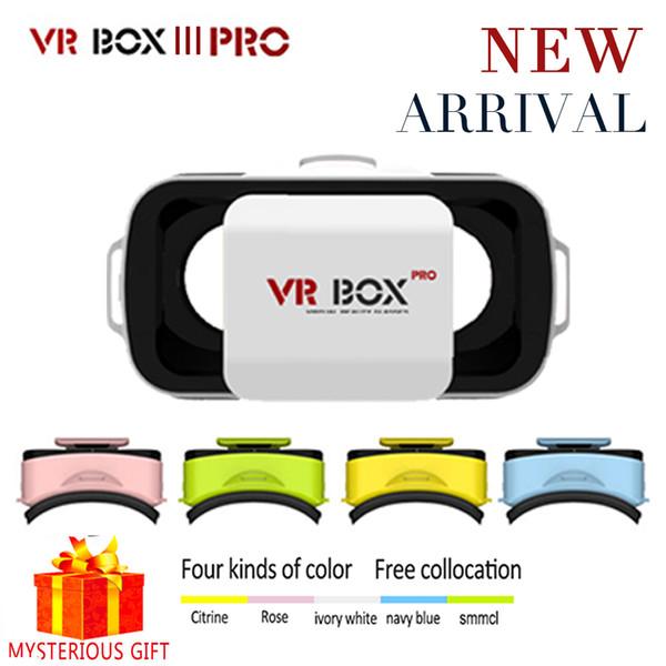 Toptan-VR Kutusu 3.0 3 D Pro III Mini Vrbox Video Gerceklik Google Karton Sanal Gerçeklik Gözlükleri 3D Gözlük Smartphone Kask Kulaklık