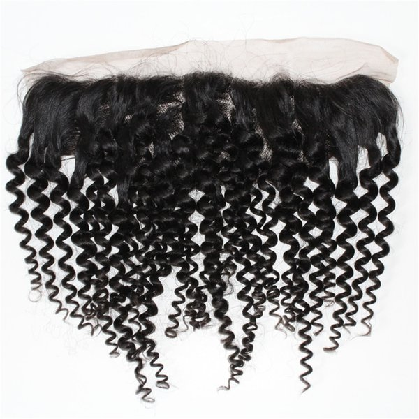 100% hand made curly 13*4 inch lace frontal top hairpiece ear to ear lace frontal wigs