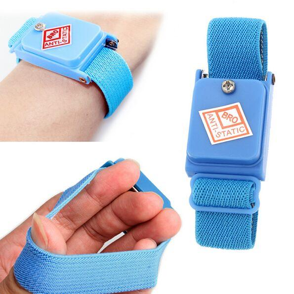 Cordless Wireless Cable Band Strap Fastener Tape Cordless Wireless Anti Static ESD Discharge Blue Cable Band Wrist Strap Slim