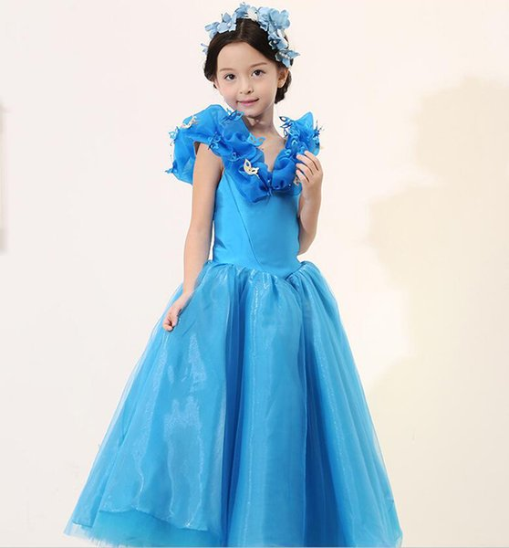 Lace Girl\'S Princess Kids Pageant Party Dance Birthday Dress ...