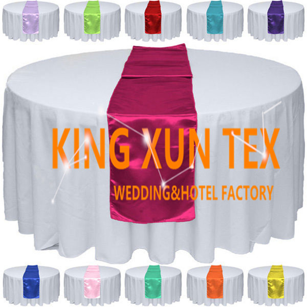 best selling 20pcs Sold Satin Table Runner Fit On Table Cloth For Wedding And Event Decoration Free Shipping