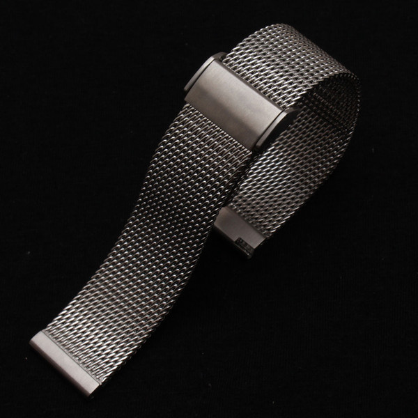 Watchbands High Quality Watchband Silver 18mm 20mm 21mm 22mm Watch mens watches Bracelet metal folding new buckle promotion new high quality