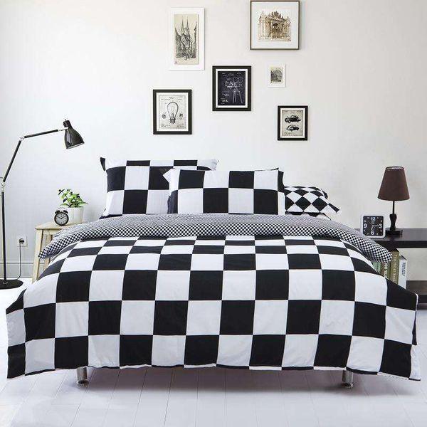 Großhandel-Baumwolle / Polyester Mikrofaser Bettbezug Set 1pc Bettbezug 1pc Bettlaken Set 2pcs Kissenbezug Full / Queen / King Size Bettwäsche Set