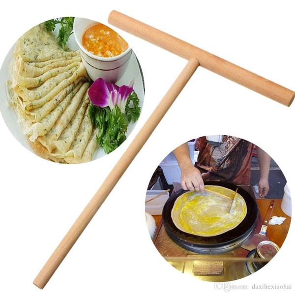 Креп чайник блин тесто деревянный разбрасыватель Stick главная кухня инструмент Kit DIY использовать 1 шт. пирог инструменты